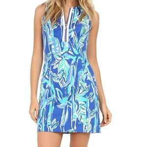 Lily Pulitzer Dress Blue Crush Bamboo NWOT